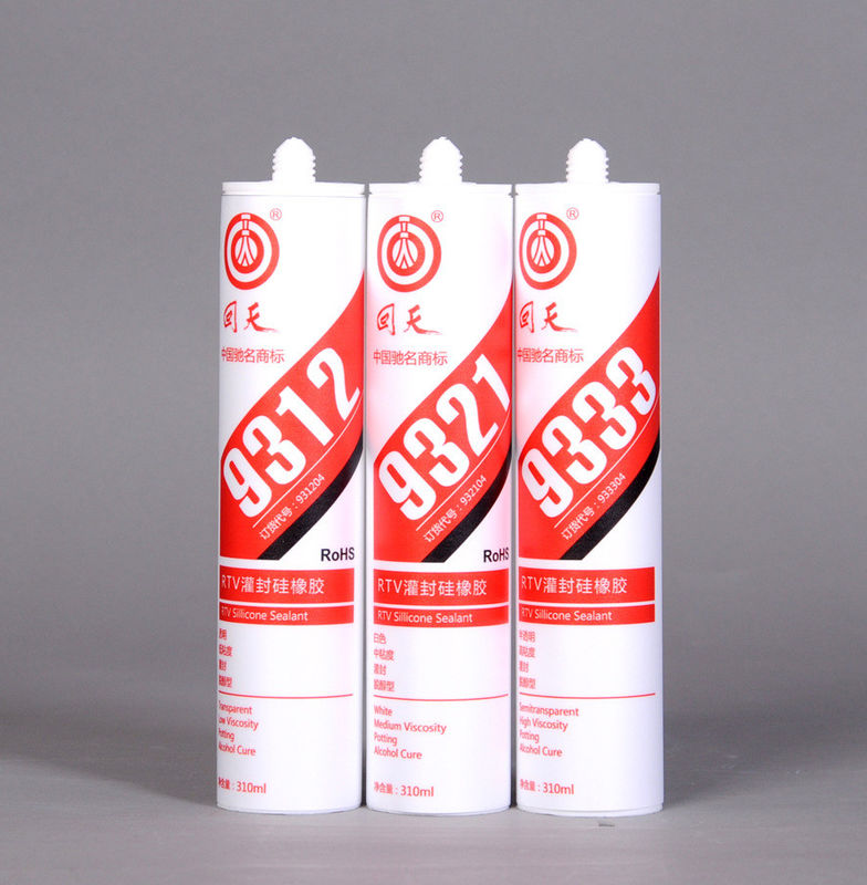 9333 High Performance RTV Silicone Sealant For the sealing and bonding of LCD decorative lighting and LED lights